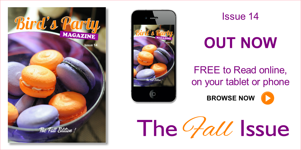 Fall Edition Party Ideas Magazine - Bird's Party Magazine